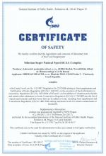 Certificate of safety<br>BCAA Complex Siberian Super Natural Sport. BCAA Complex, 120 tablets